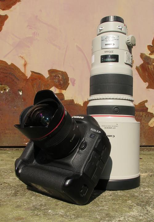 Canon 1D x, Canon EF 14mm 1:2,8L II USM, Canon EF 300mm 1;2,8L II IS USM