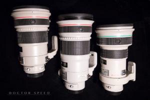 Canon EF 300mm 1:28L IS II USM, Canon EF 400mm 1:4,0 DO IS II USM, Canon EF 200mm 1:2,0L IS USM