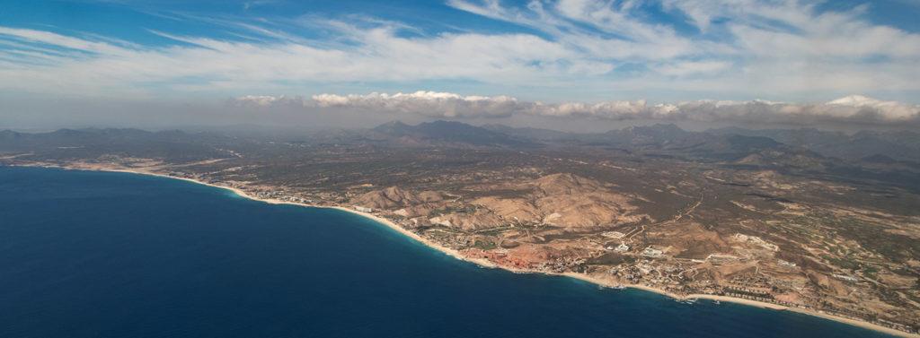 Anflug des Los Cabos International Airport