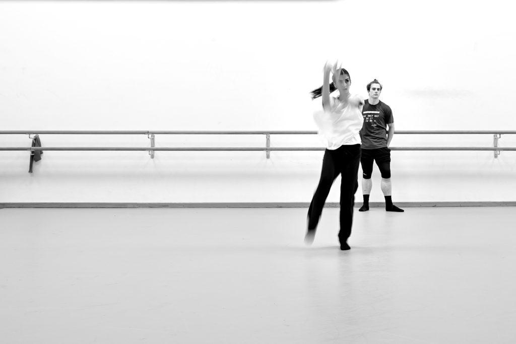 Proben zu VIBRATIONS im Aalto Ballett Essen, 2017