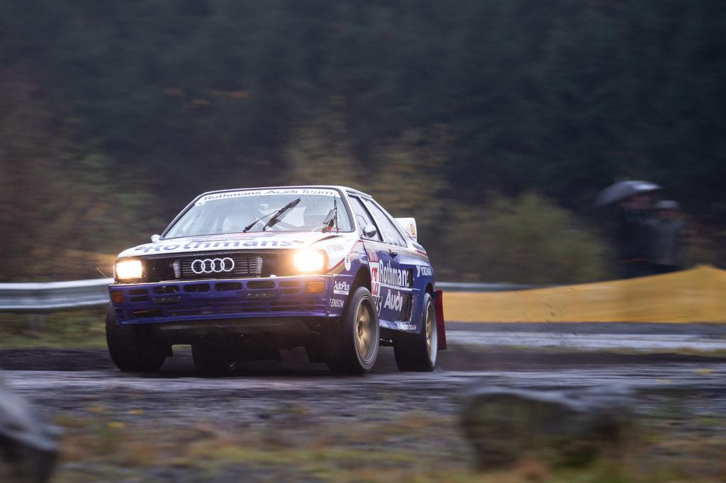 Ein Audi bei der Rallye Köln-Ahrweiler