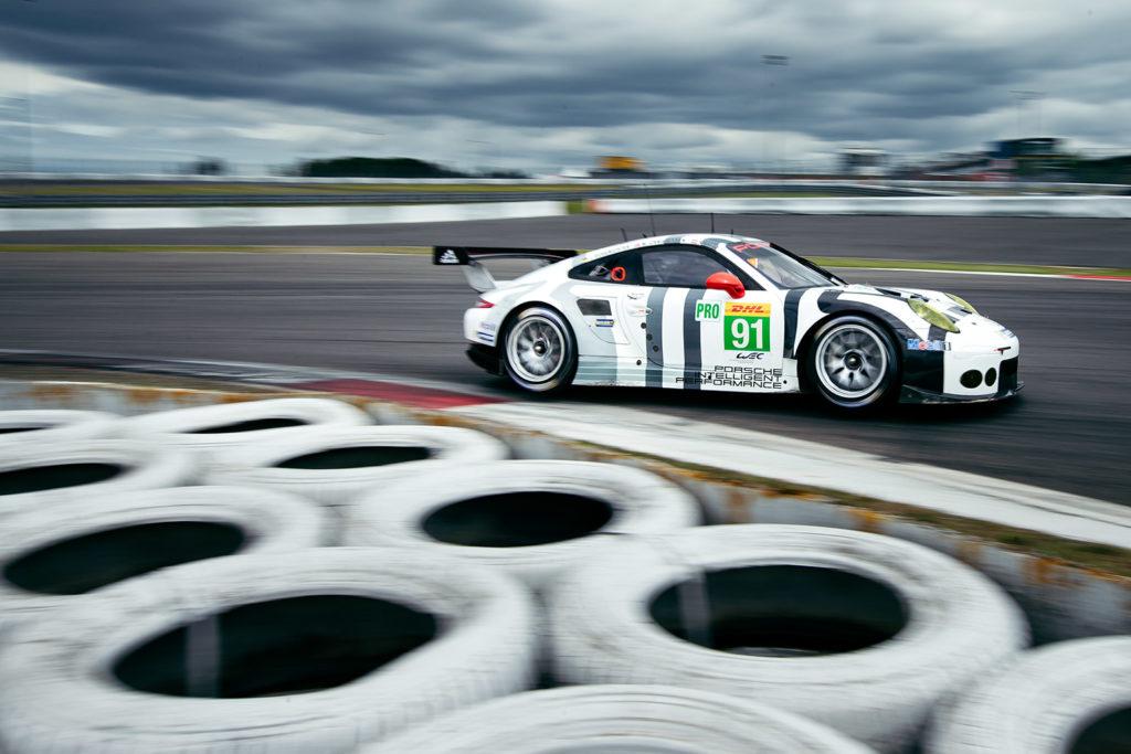 Ein Porsche 911 RSR der GT Pro beim Training vor den WEC 6 hours of Nürburgring.