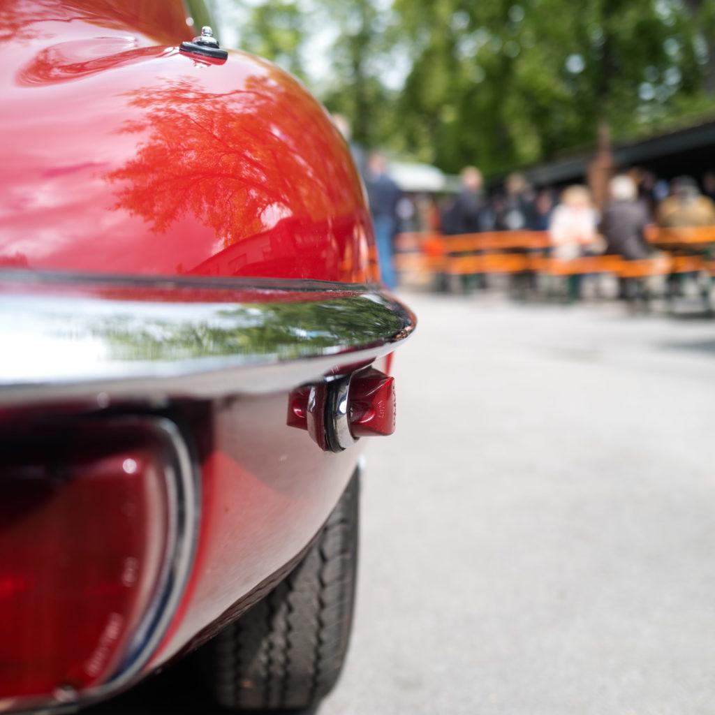 Jaguar E-Type beim Sommerfest von BC Moto Service Dortmund