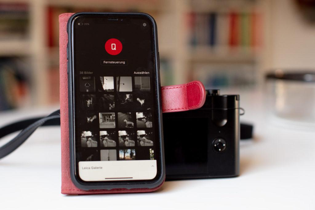 Ich kann die Leica Q2 mit meinem iPhone XR fernsteuern.