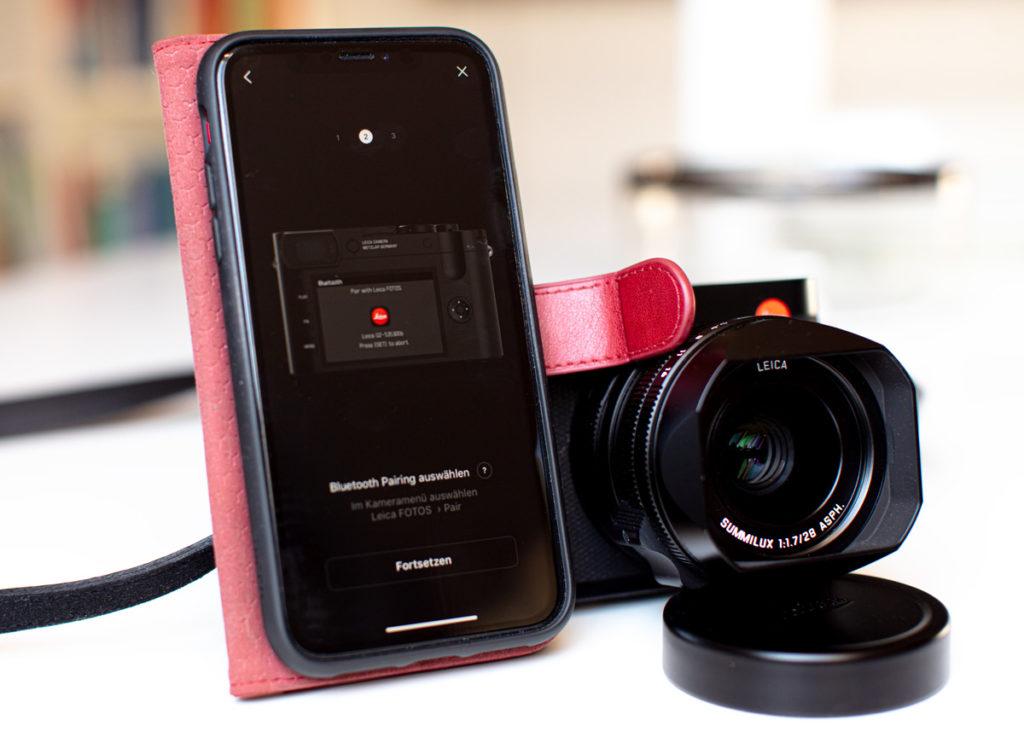 Die Leica Q2 verbindet sich ruckelfrei mit der App auf meinem iPhone XR.