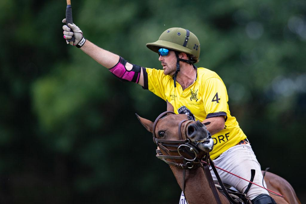 Der argentinische Polo Profi Joaquin Copello bei den Rhein Polo Open 2019