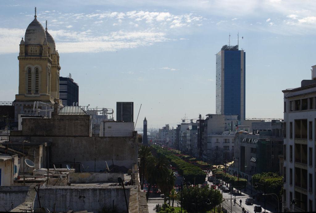 Reisen im Kopf - Tunesien 1980 Die Avenue Habib Bourguiba in Tunis, Foto: Habib M'henni